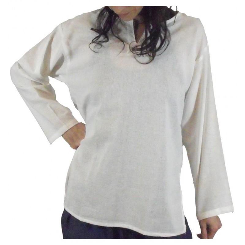 camisa algodon blanco