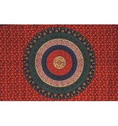 Dark Red Mandala Hanging