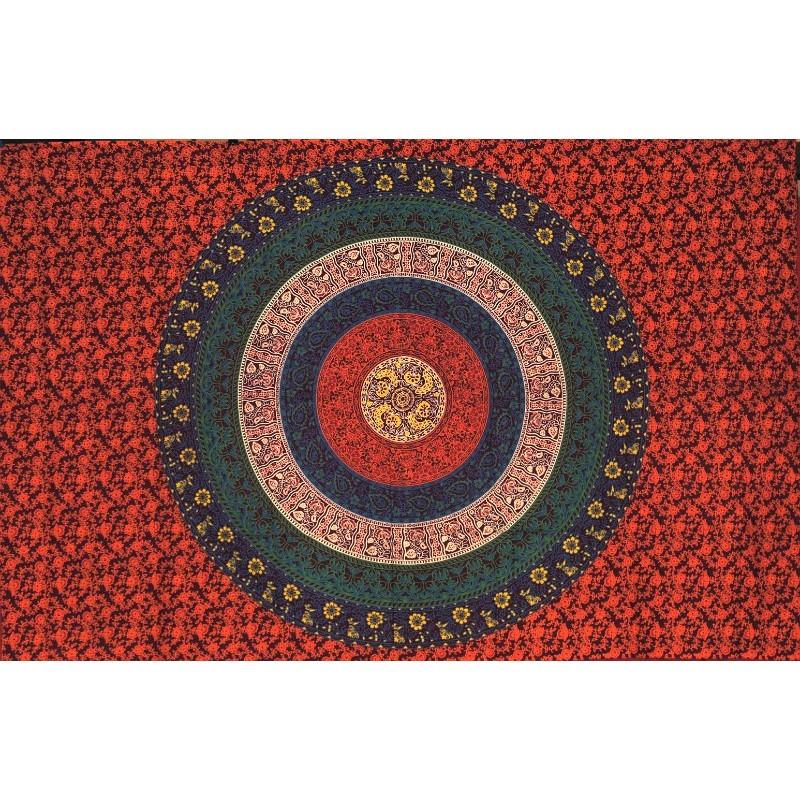tapiz mandala rojo oscuro