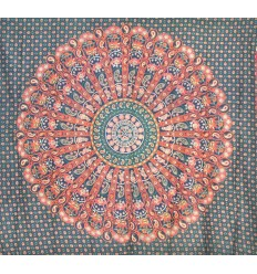 green mandala large hanging