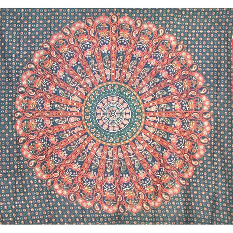 gran tapiz mandala verde