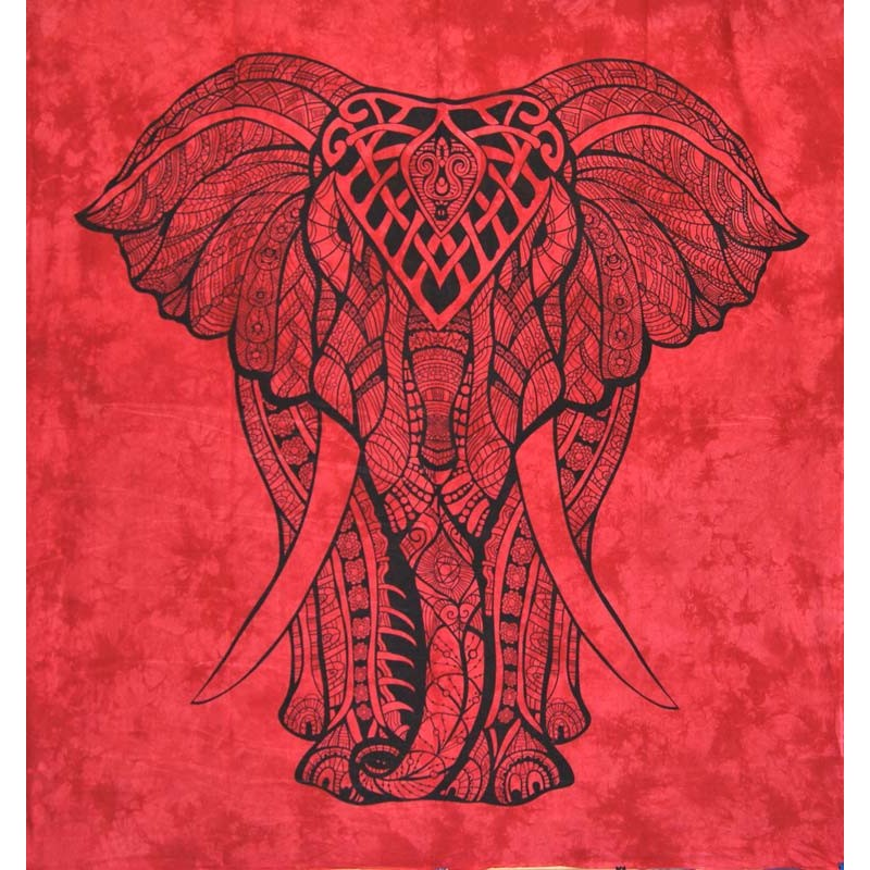 red elephant wall hanging