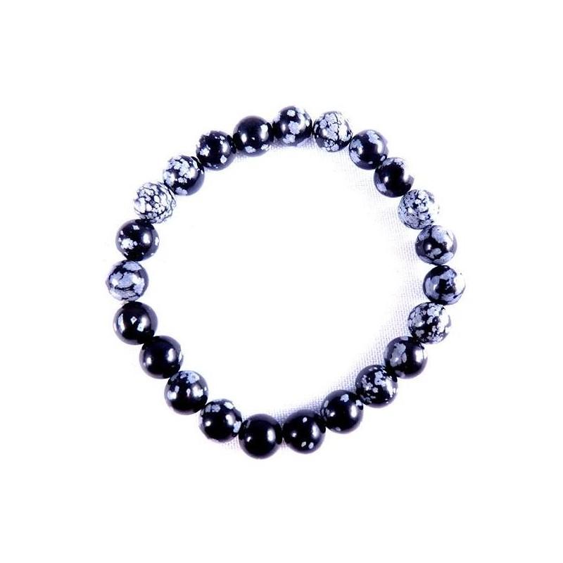 Snow Obsidian Bracelet