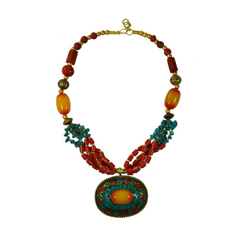 Large Tibetan Necklace