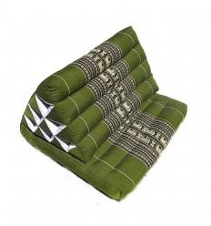 Green Thaï Triangular Cushion