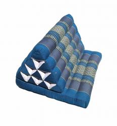 Blue Thaï Triangular Cushion