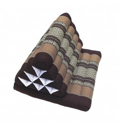Brown Thaï Triangular Cushion