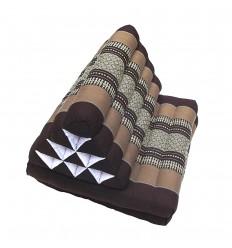 Brown Thaï Triangular Cushion Medium