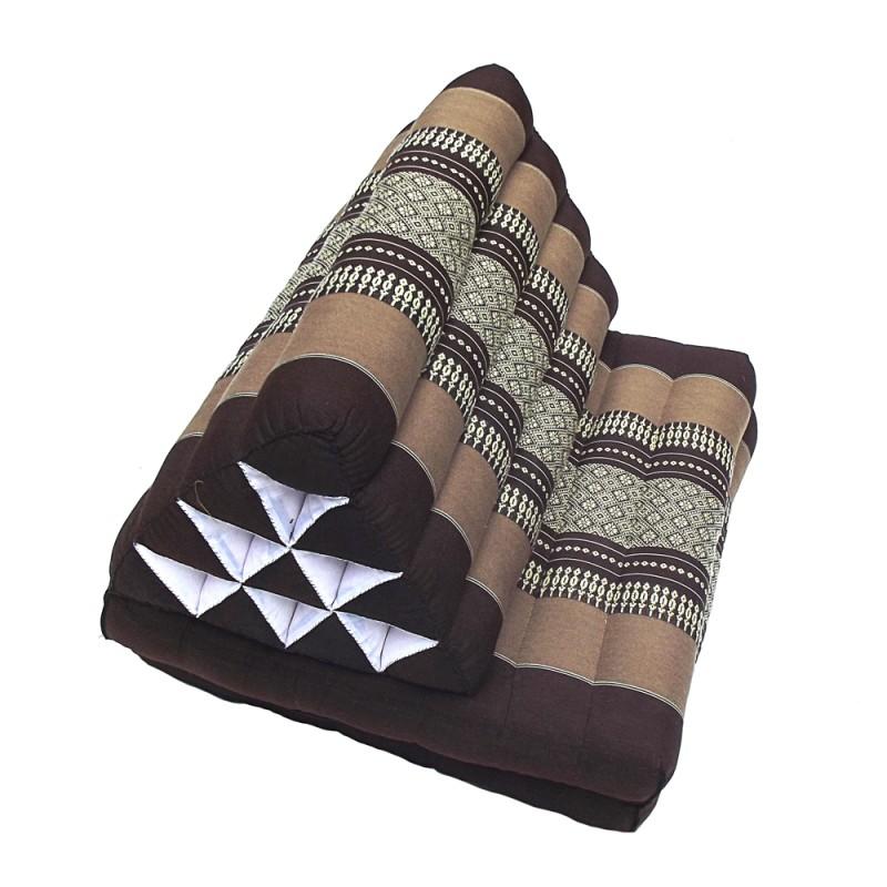 Orange Thaï Triangular Cushion Medium