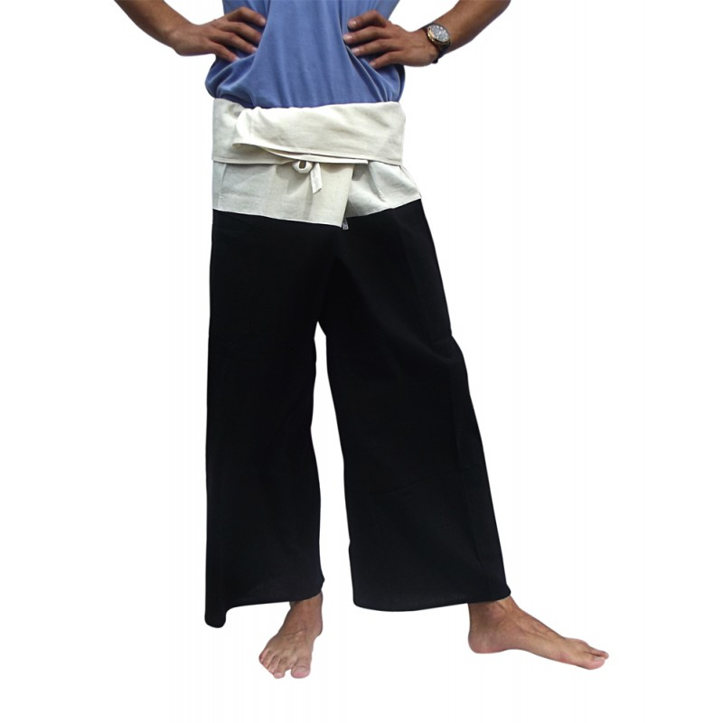 Black and Cream Fisherman Pants