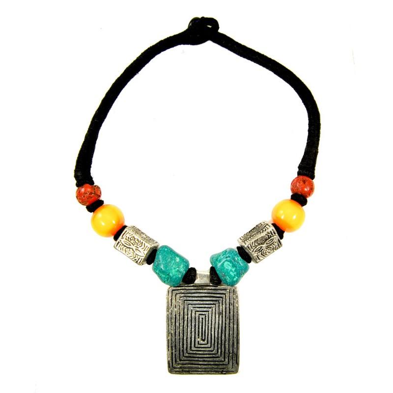 Colored Tibetan Necklace
