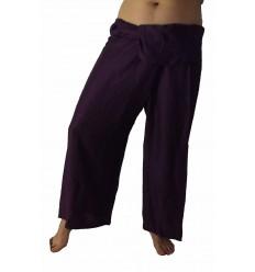 Purple Rayon Fisherman Pants