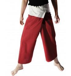 Pantalon Thailandeses Burdeos y Crema