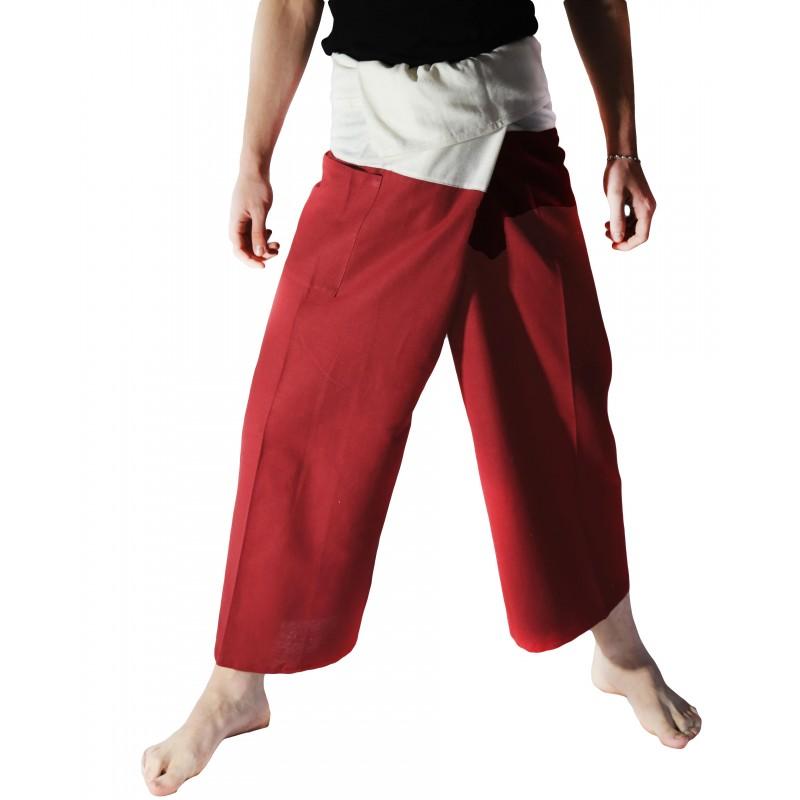 Pantalon Thaï Bicolore Noir et Crème