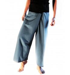Pantalones Tailandeses XL - Azul Gris y Negro