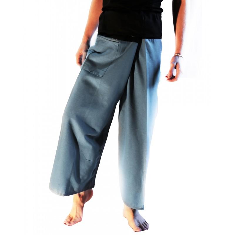 Pantalones Tailandeses XL - Burdeo y Crema