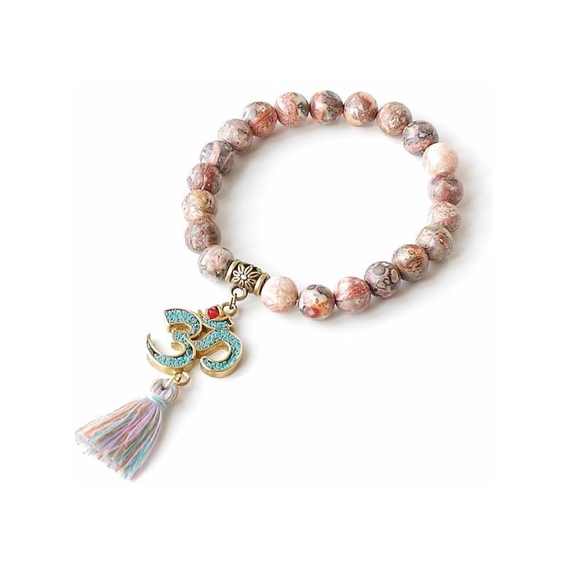 bracelet jaspe Aum