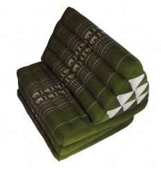 almohada triangular Tailandes JUMBO verde