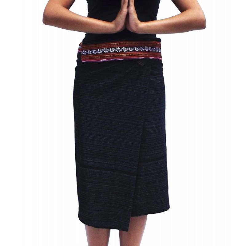 Falda Tailandesa Corta - Gris