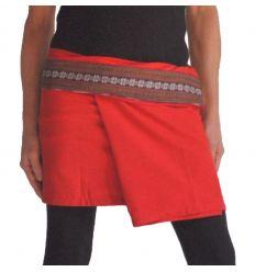 Mini Wrap Thai Skirt - Red
