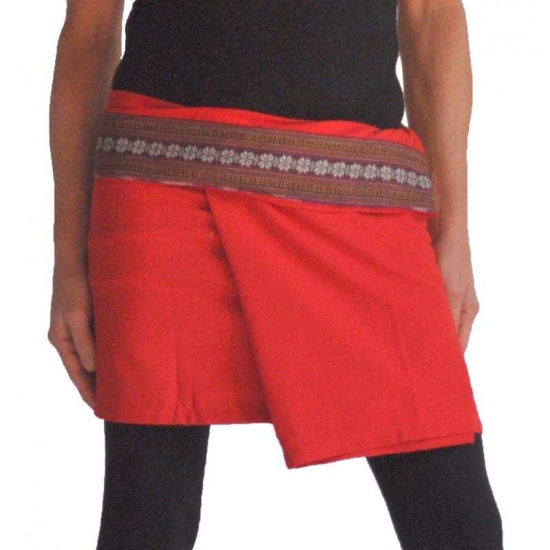 Mini Wrap Thai Skirt - White