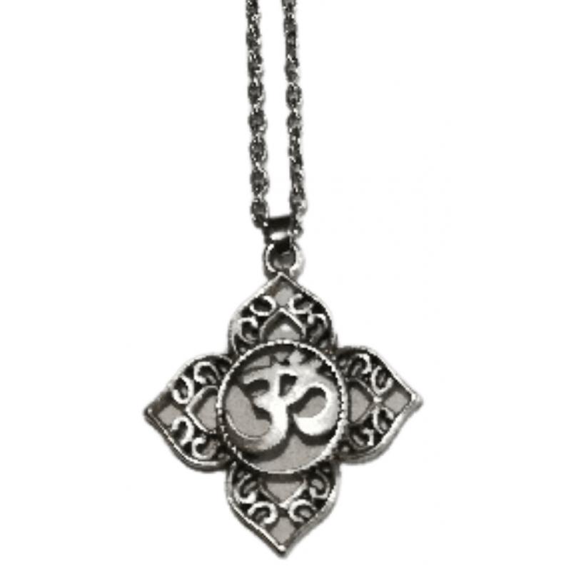 Om Lotus Necklace