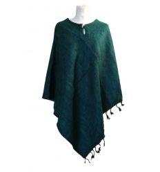 Green Wool Poncho