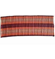 Orange Roll-up Mattress - Unfolded