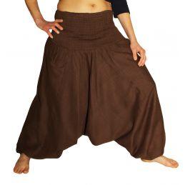 Dark Brown Aladdin Pants for Woman