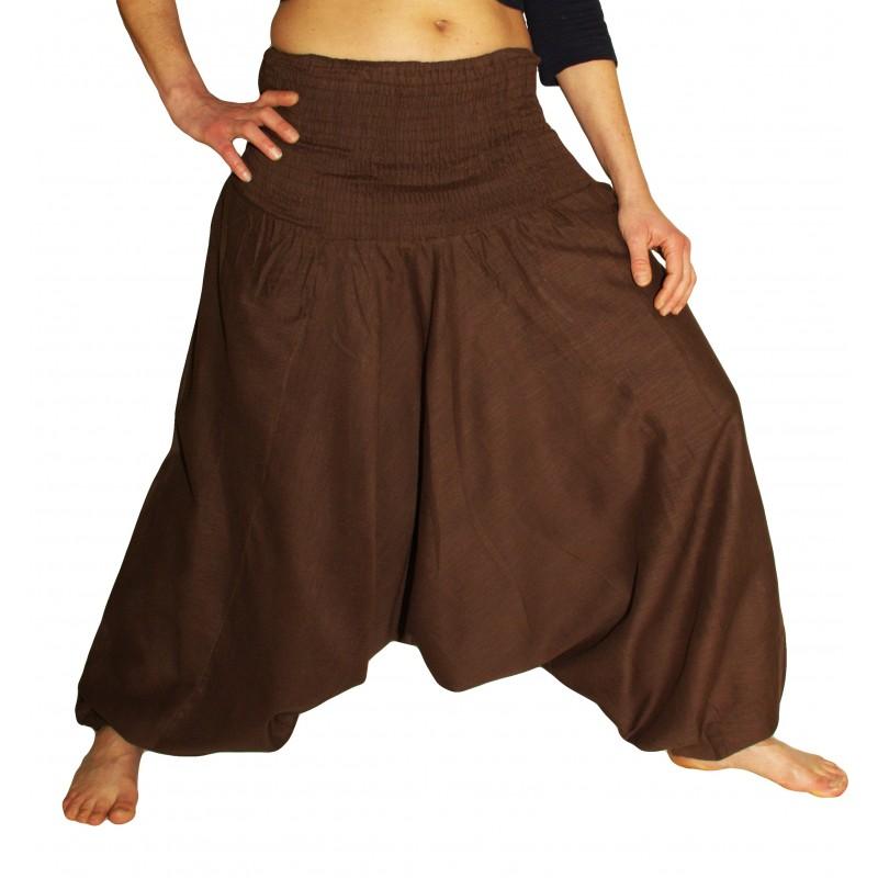 Pantalon Aladin Smocké Gris
