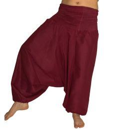 Pantalon Aladin Smocké Bordeaux