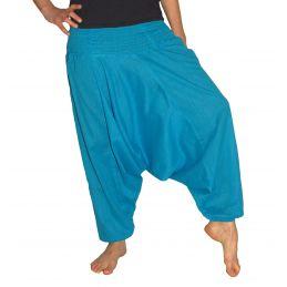 Pantalon Aladin Smocké Bleu Ciel