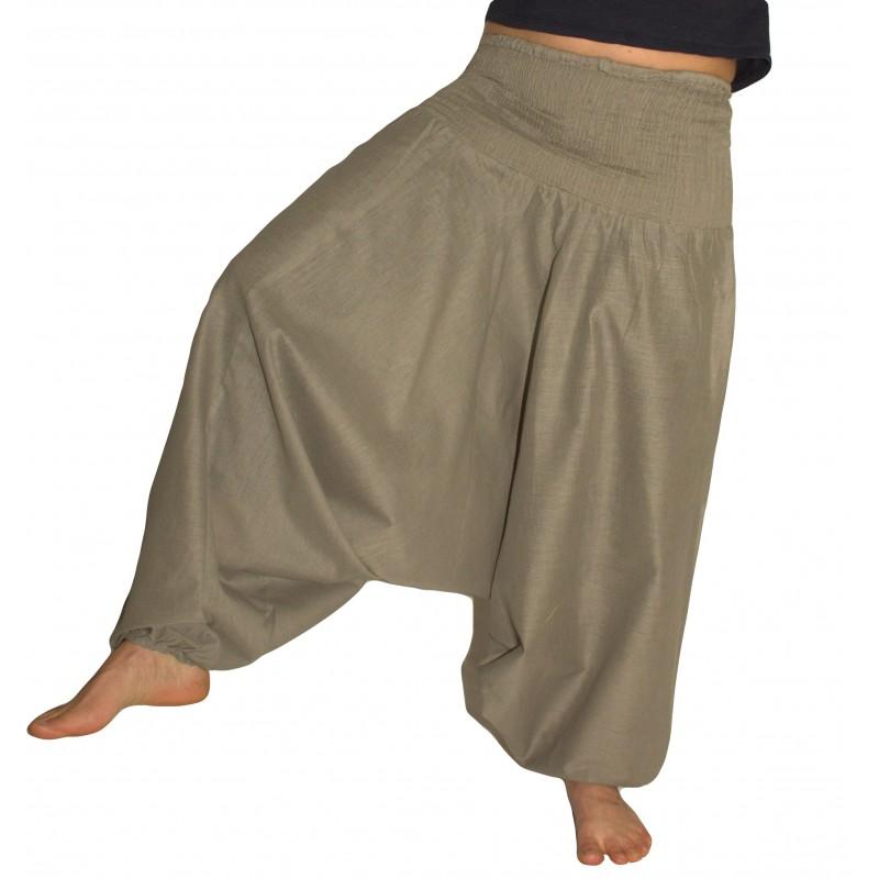 Grey Aladdin Pants for Woman
