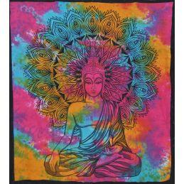 Tenture Murale Boudha Multicolore
