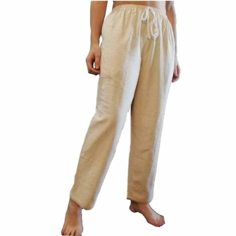 Pantalón de Algodón Beige