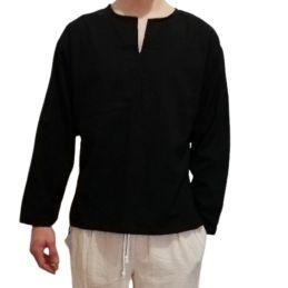 Camisa Negra de Algodon