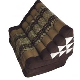 Brown Thaï Triangular Cushion Jumbo