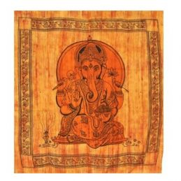 Tenture Ganesh Orange