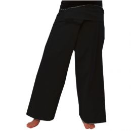 Pantalon Thaï Rayonne Noir