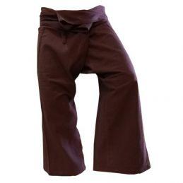 Dark Brown Fisherman Pants