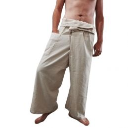 Cream Fisherman Pants