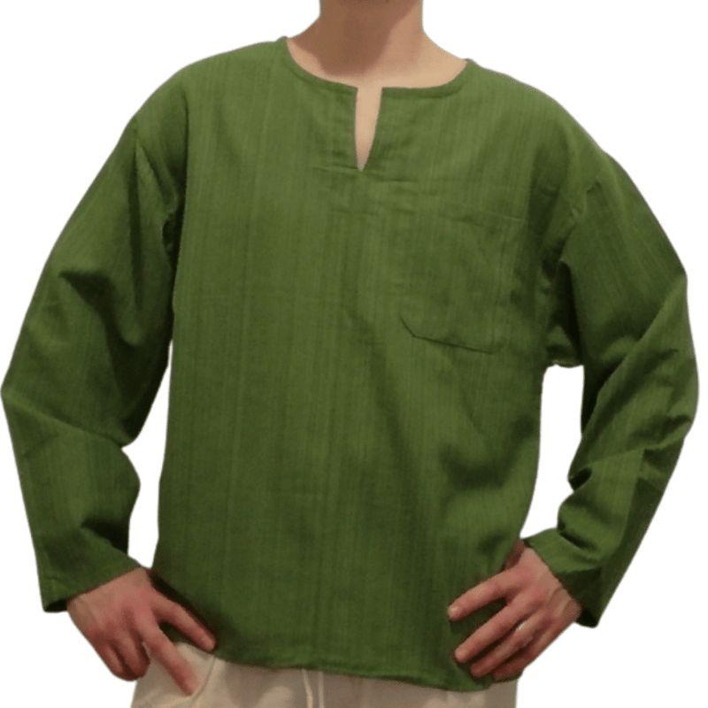 Burgundy Striped Cotton Shirt