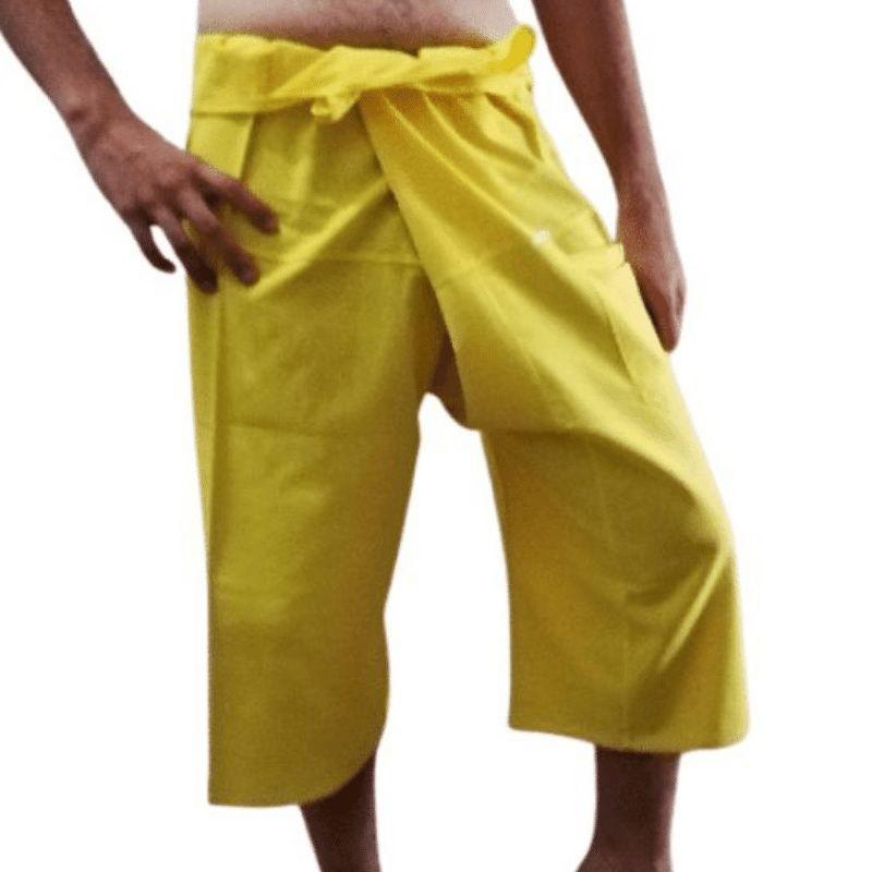 Pantalones Tailandeses Cortos Amarillos