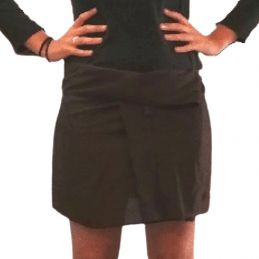 Rayon Short Thai Skirt - Dark Brown