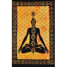 Tapiz de Pared Meditacion Naranja