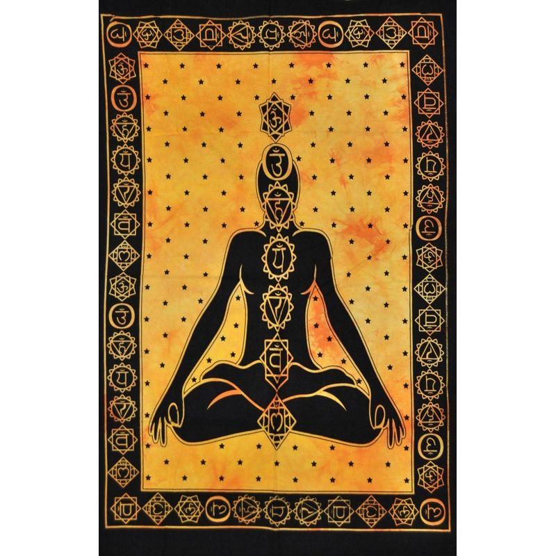 Tenture Murale Méditation Orange