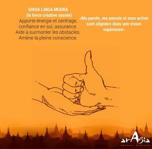 Shiva Linga mudra symbolise l'intégration des énergies de Shiva et Shakti, dieu et déesse hindoue