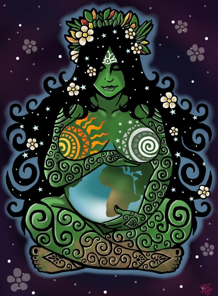 En muchas culturas y tradiciones, el planeta Tierra ha sido personificado y adorado como una diosa
