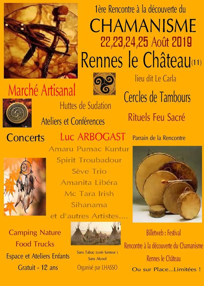 festival chamanisme rennes le chateau
