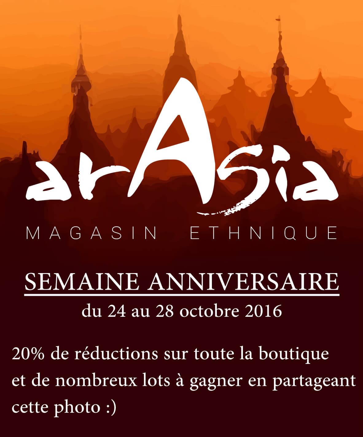 semaine anniversaire boutique arasia